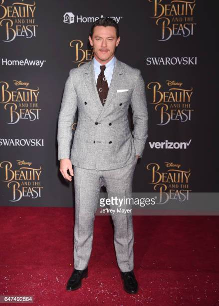 Actor Luke Evans arrives at the Premiere Of Disney's 'Beauty And The Beast' at the El Capitan Theatre on March 2 2017 in Los Angeles California
