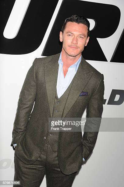 Actor Luke Evans arrives at the premiere of Furious 7 held at the TCL Chinese Theater in Hollywood