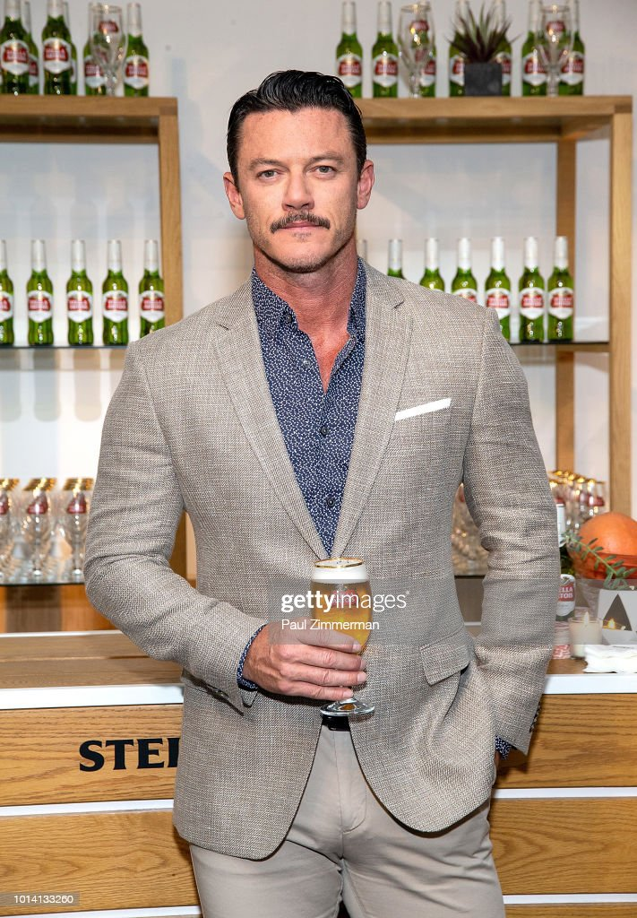 Actor Luke Evans atteds Stella Artois Introducing 'Stellaspace' at Inscape on August 9, 2018 in New York City.