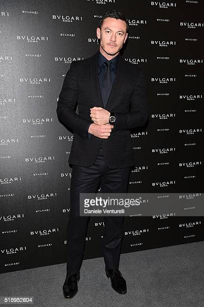 Actor Luke Evans attends Bvlgari Cocktail at Baselworld 2016 on March 16 2016 in Basel Switzerland