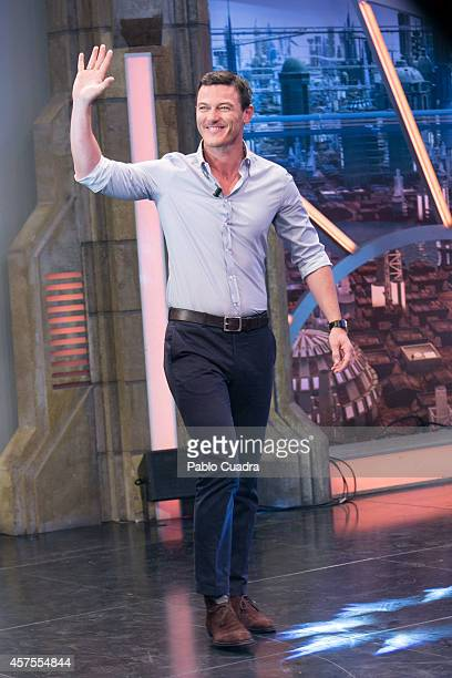 Actor Luke Evans attends 'El Hormiguero' TV show at 'Vertice Estudio' on October 20, 2014 in Madrid, Spain.