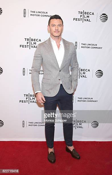 Actor Luke Evans attends 'HighRise' Premiere 2016 Tribeca Film Festival at SVA Theatre 2 on April 20 2016 in New York City