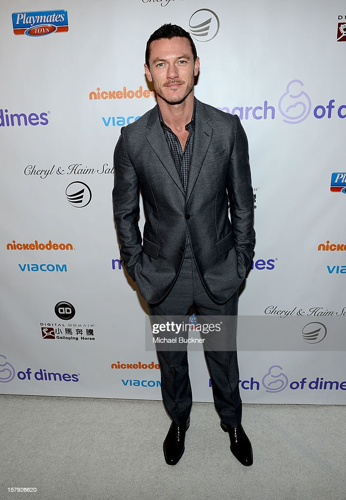 Actor Luke Evans attends the 7th Annual March of Dimes Celebration of Babies, a Hollywood Luncheon, at the Beverly Hills Hotel on December 7, 2012 in Beverly Hills, California.