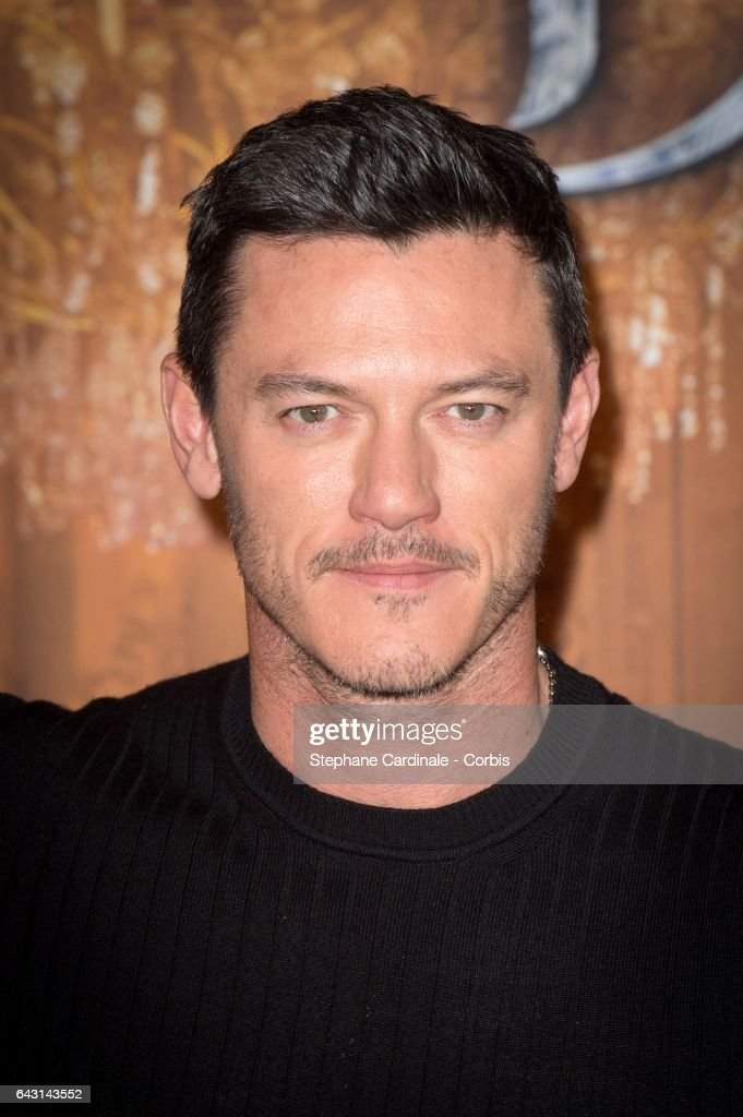 Actor Luke Evans attends the 'Beast And Beauty - La Belle Et La Bete' Paris Photocall at Hotel Meurice on February 20, 2017 in Paris, France.