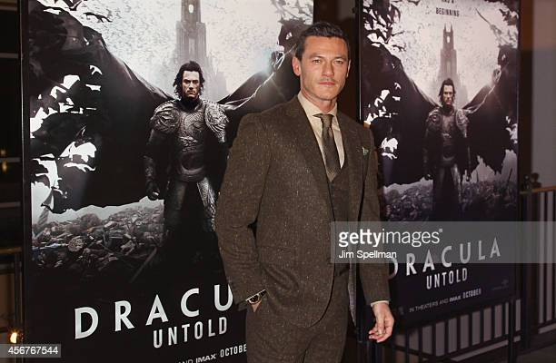 Actor Luke Evans attends the Dracula Untold New York Premiere at AMC Loews 34th Street 14 theater on October 6 2014 in New York City