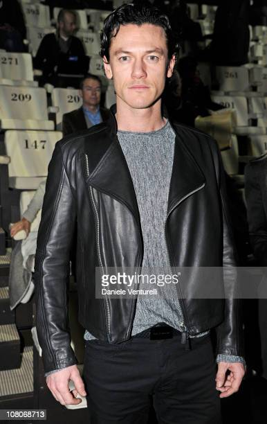 Actor Luke Evans attends the Emporio Armani Fashion Show as part of Milan Fashion Week Menswear A/W 2011 on January 16 2011 in Milan Italy