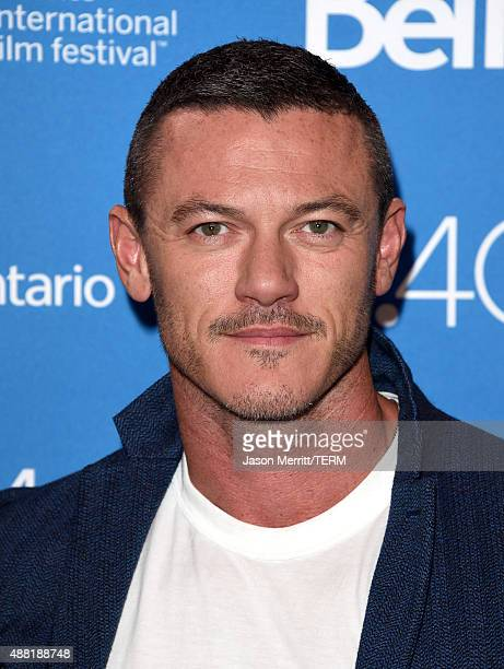 Actor Luke Evans attends the HighRise press conference at the 2015 Toronto International Film Festival at TIFF Bell Lightbox on September 14 2015 in...