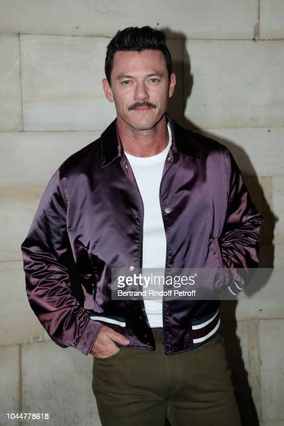Actor Luke Evans attends the Louis Vuitton show as part of the Paris Fashion Week Womenswear Spring/Summer 2019 on October 2 2018 in Paris France