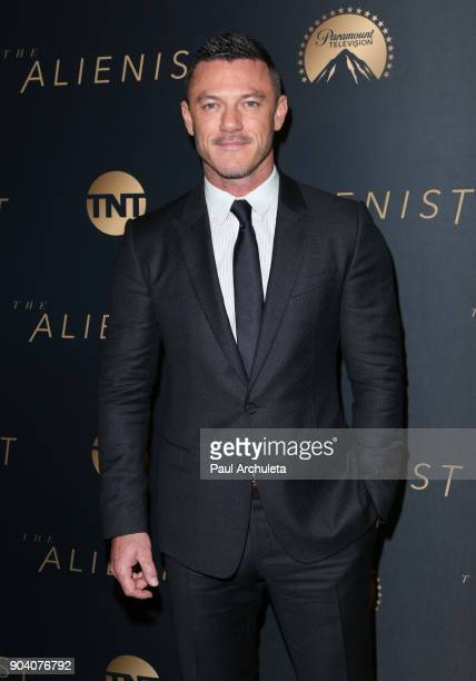 """Actor Luke Evans attends the premiere of TNT's """"The Alienist"""" at The Paramount Lot on January 11, 2018 in Hollywood, California."""