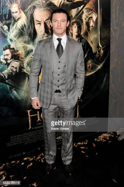 Actor Luke Evans attends the premiere of Warner Bros' The Hobbit The Desolation of Smaug at TCL Chinese Theatre on December 2 2013 in Hollywood...