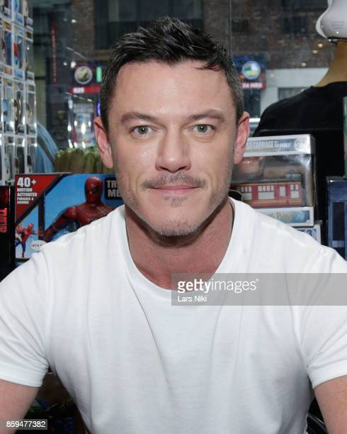 Actor Luke Evans attends the Professor Marston and the Wonder Women meet and greet at New York's Forbidden Planet on October 9 2017 in New York City