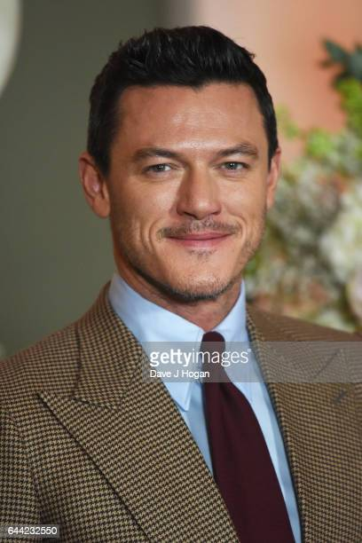 Actor Luke Evans attends the UK launch event for 'Beauty And The Beast' at Spencer House on February 23 2017 in London England