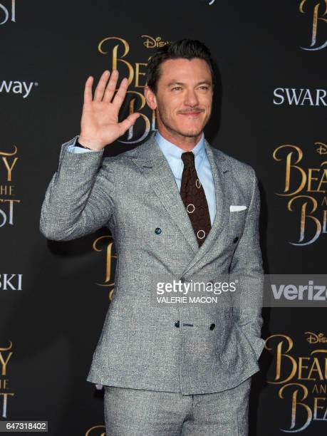 Actor Luke Evans attends the world premiere of Disney's Beauty and the Beast at El Capitan Theatre in Hollywood California on March 2 2017 / AFP...
