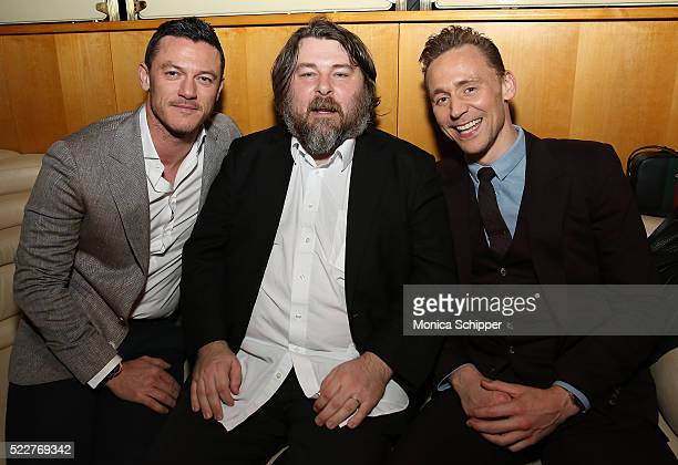 Actor Luke Evans director Ben Wheatley and actor Tom Hiddleston attend the 2016 Tribeca Film Festival After Party For HighRise Sponsored By EFFEN...