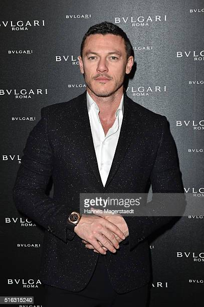 Actor Luke Evans during Bvlgari Press Breakfast at Baselworld 2016 on March 17 2016 in Basel Switzerland