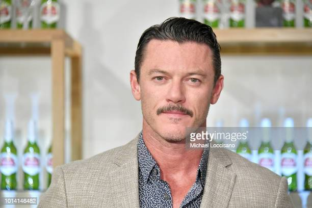 Actor Luke Evans introduces Stellaspace at Inscape on August 9 2018 in New York City