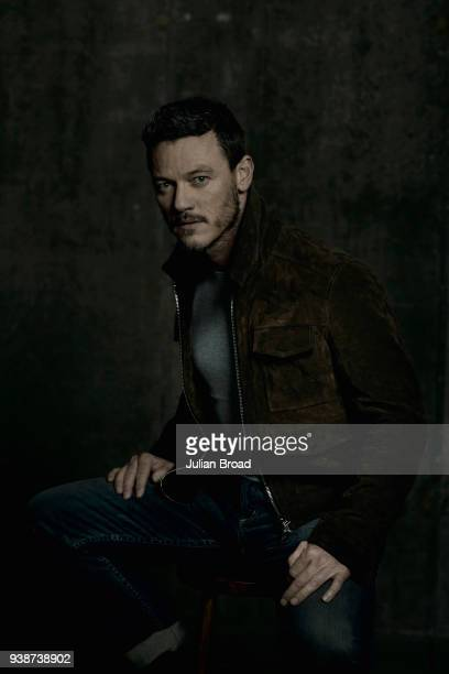 Actor Luke Evans is photographed for Harrods magazine on January 10 2017 in London England