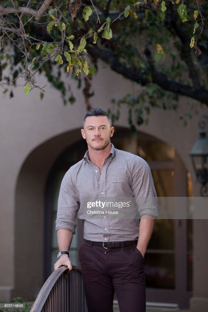 Actor Luke Evans is photographed for Los Angeles Times on January 11, 2018 in Pasadena, California. PUBLISHED IMAGE.