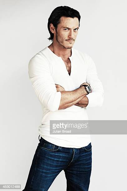 Actor Luke Evans is photographed for Men's Health magazine on September 28 2013 in London England