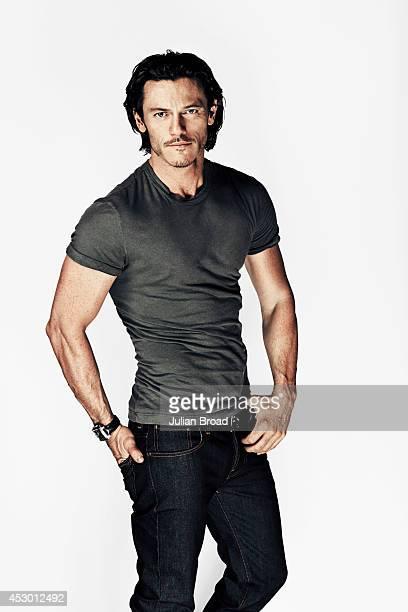 Actor Luke Evans is photographed for Men's Health magazine on September 28 2013 in London England