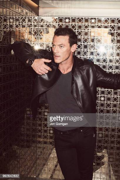 Actor Luke Evans is photographed for the Telegraph on September 19 2016 in London England