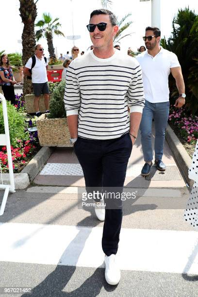 Actor Luke Evans is seen on the croisette during the 71st annual Cannes Film Festival at on May 10 2018 in Cannes France