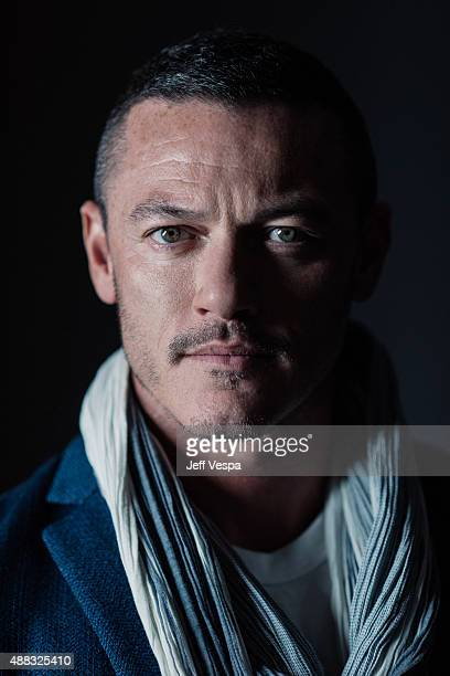 Actor Luke Evans of HighRise poses for a portrait at the 2015 Toronto Film Festival at the TIFF Bell Lightbox on September 15 2015 in Toronto Ontario