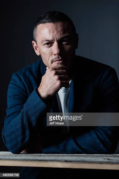 Actor Luke Evans of 'HighRise' poses for a portrait at the 2015 Toronto Film Festival at the TIFF Bell Lightbox on September 15 2015 in Toronto...