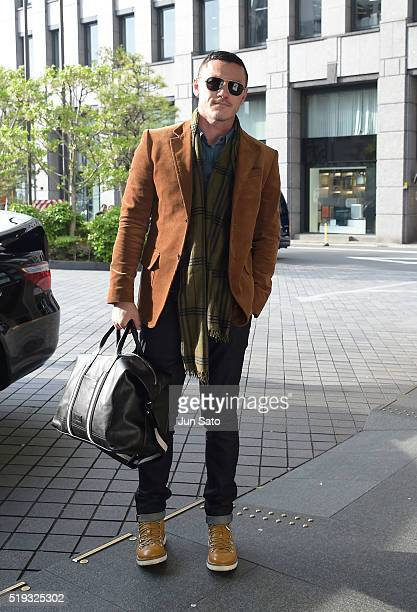 Actor Luke Evans sighting on April 6 2016 in Tokyo Japan