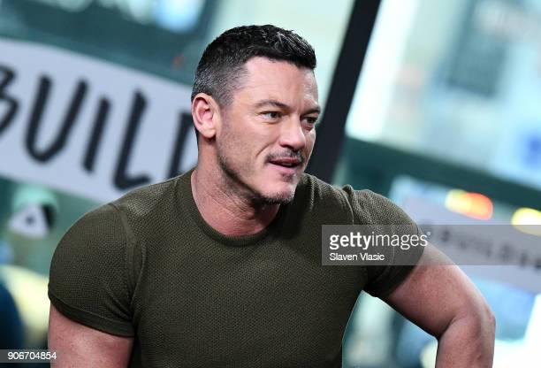 Actor Luke Evans visits Build Series to discuss TNT's TV period drama mystery series The Alienist at Build Studio on January 18 2018 in New York City