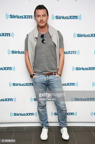 Actor Luke Evans visits the SiriusXM Studios on September 27 2016 in New York City
