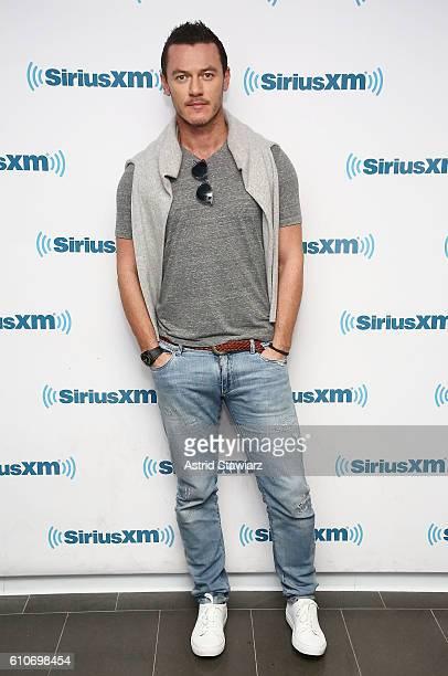 Actor Luke Evans visits the SiriusXM Studios on September 27 2016 in New York City