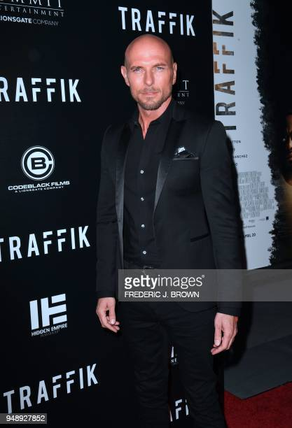 Actor Luke Goss arrives for the premiere of the film 'Traffik' in Hollywood California on April 19 2018