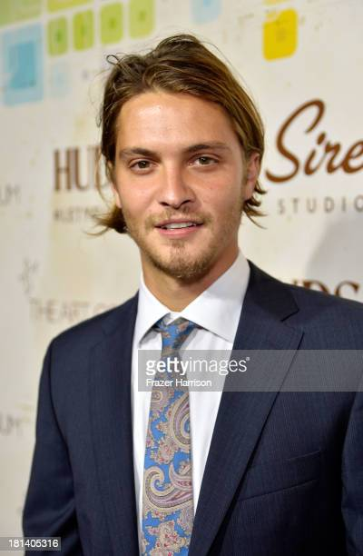 Actor Luke Grimes arrives at Hudson Jeans Presents The Art of Elysium's Genesis Celebrating Emerging Artists at Siren Cube on September 20 2013 in...