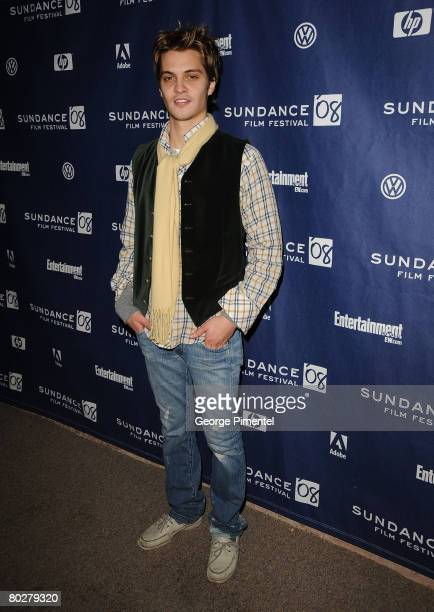 Actor Luke Grimes attends a screening of Assassination of a High School President at Eccles Theatre during the 2008 Sundance Film Festival on January...