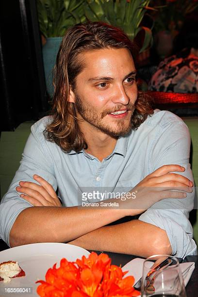 Actor Luke Grimes attends Vogue's Triple Threats dinner hosted by Sally Singer and Lisa Love at Goldie's on April 3 2013 in Los Angeles California