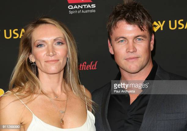 Actor Luke Hemsworth and his Wife Samantha Hemsworth attend the 2018 G'Day USA Los Angeles Black Tie Gala at the InterContinental Los Angeles...