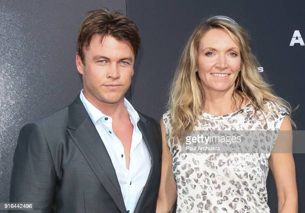Actor Luke Hemsworth and his Wife Samantha Hemsworth attend the premiere of Lionsgate's 'All Eyez On Me' on June 14 2017 in Los Angeles California