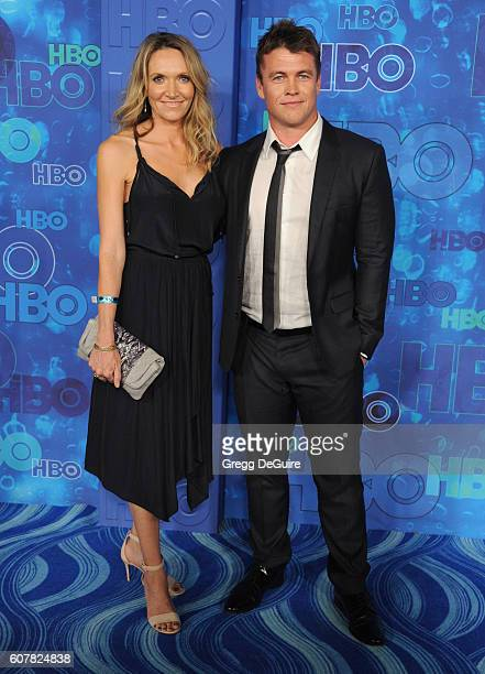 Actor Luke Hemsworth and Samantha Hemsworth arrive at HBO's Post Emmy Awards Reception at The Plaza at the Pacific Design Center on September 18 2016...