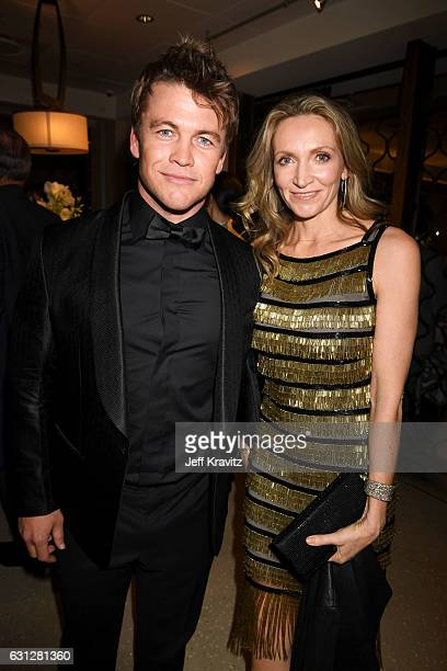 Actor Luke Hemsworth and Samantha Hemsworth attend HBO's Official Golden Globe Awards After Party at Circa 55 Restaurant on January 8 2017 in Beverly...
