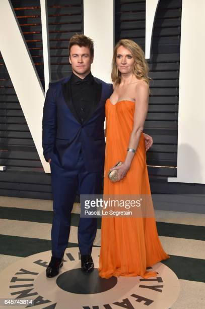 Actor Luke Hemsworth and Samantha Hemsworth attend the 2017 Vanity Fair Oscar Party hosted by Graydon Carter at Wallis Annenberg Center for the...