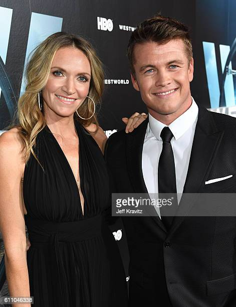 """Actor Luke Hemsworth and Samantha Hemsworth attend the premiere of HBO's """"Westworld"""" at TCL Chinese Theatre on September 28, 2016 in Hollywood,..."""
