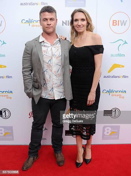 Actor Luke Hemsworth and wife Samantha Hemsworth arrive at Australians In Film Heath Ledger Scholarship Dinner on June 1 2016 in Beverly Hills...