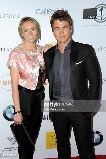 Actor Luke Hemsworth and wife Samantha Hemsworth arrive at The Ledger Family and Australians In Film's 6th anniversary of The Scholarship and The...