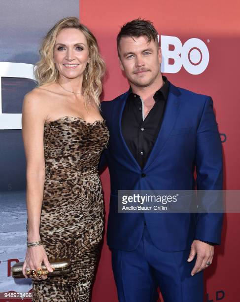 Actor Luke Hemsworth and wife Samantha Hemsworth arrive at the Los Angeles premiere of HBO's 'Westworld' season 2 at The Cinerama Dome on April 16,...