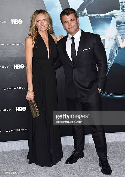 Actor Luke Hemsworth and wife Samantha Hemsworth arrive at the premiere of HBO's 'Westworld' at TCL Chinese Theatre on September 28, 2016 in...