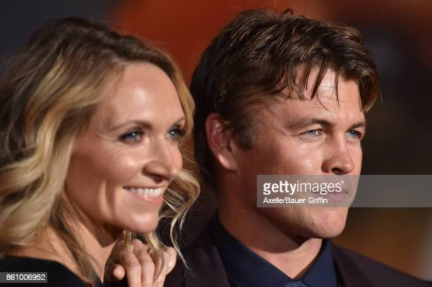 Actor Luke Hemsworth and wife Samantha Hemsworth arrive at the premiere of Disney and Marvel's 'Thor: Ragnarok' at the El Capitan Theatre on October...
