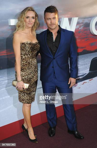 """Actor Luke Hemsworth and wife Samantha Hemsworth arrive for the Premiere Of HBO's """"Westworld"""" Season 2 held at The Cinerama Dome on April 16, 2018 in..."""