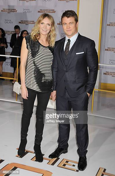 Actor Luke Hemsworth and wife Samantha Hemsworth at the 'The Hunger Games: Mockingjay - Part 1' - Los Angeles Premiere at Nokia Theatre L.A. Live on...