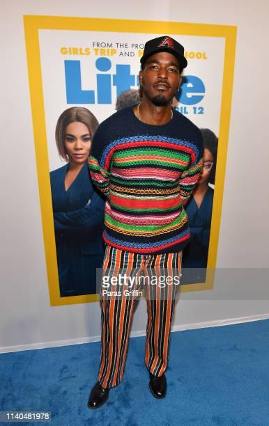 "Actor Luke James attends ""Little"" Atlanta red carpet screening at Regal Atlantic Station on April 04, 2019 in Atlanta, Georgia."